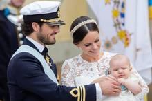 Prinz Carl Philip, Prinzessin Sofia und mit ihrem Sohn Prinz Alexander von Schweden
