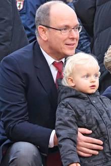 Fürst Albert, Fürstin Charlène, Prinz Jacques + Prinzessin Gabriella