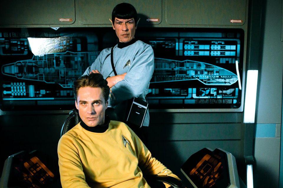 Rainer Meifert als Captain Kirk und Jens Dombek als Mr. Spock