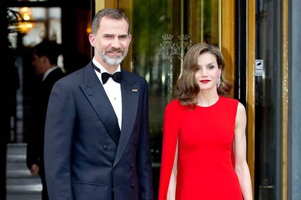 Erwischt vor dem Hotel: König Felipe und Königin Letizia von Spanien.