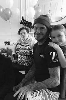 2. Mai 2017  Glücklicher Familienvater: David Beckham feiert seinen Geburtstag im Kreise seiner Liebsten.