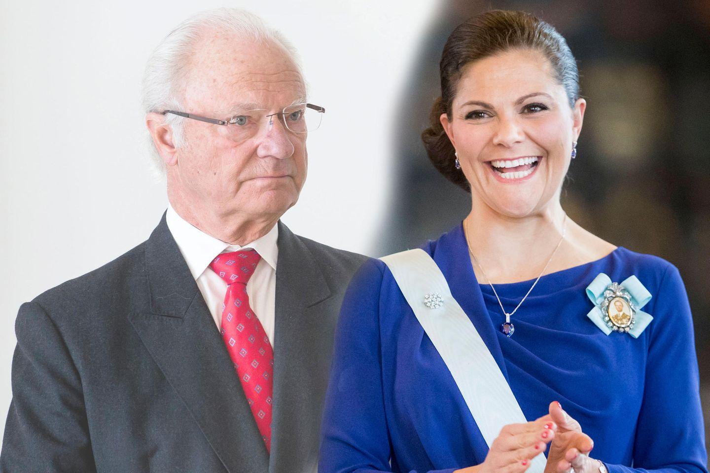 König Carl Gustaf + Prinzessin Victoria