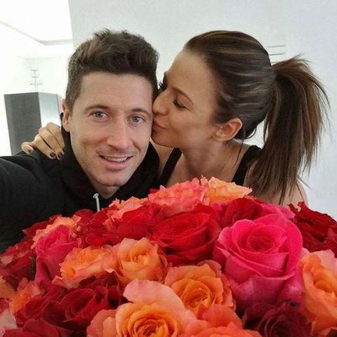 Robert Lewandowski und Ehefrau Anna Lewandowska