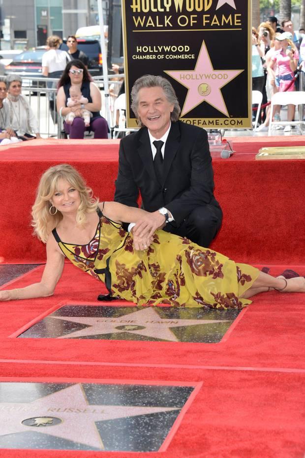 4. Mai 2017  Doppelstern für die Liebe: Goldie Hawn und Kurt Russell werden mit je einem Stern auf dem Walk of Fame verewigt.