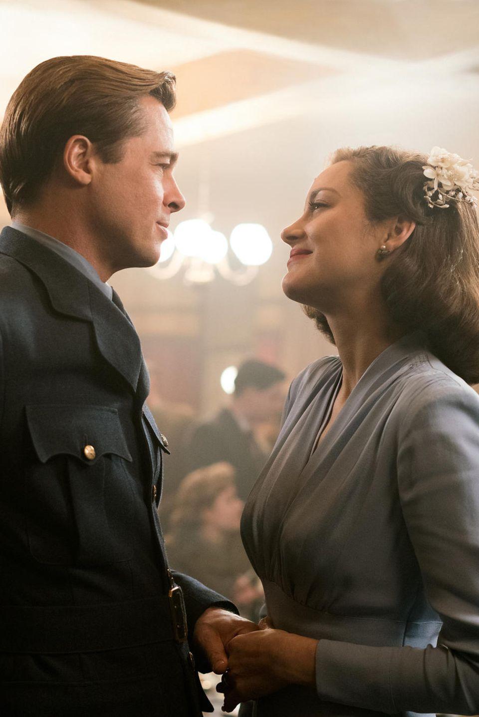 """Brad Pitt und Marion Cotillard als Max und Marianne in """"Allied - vertraute Fremde"""""""