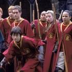 """In den ersten drei Filmen der """"Harry Potter""""-Reihe spielt Danielle Tabor (ganz rechts) die Gryffindor-Schülerin Angelina Johnson. Beim Quidditch hält sie dem Hauptdarsteller Daniel Radcliffe stets den Rücken frei."""