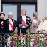 9. Mai 2017  Die schwedisch-niederländische Ecke: Königin Silvia und König Carl Gustaf, König Willem-Alexander und Königin Máxima sowie Prinzessin Astrid, die Schwester von König Harald.