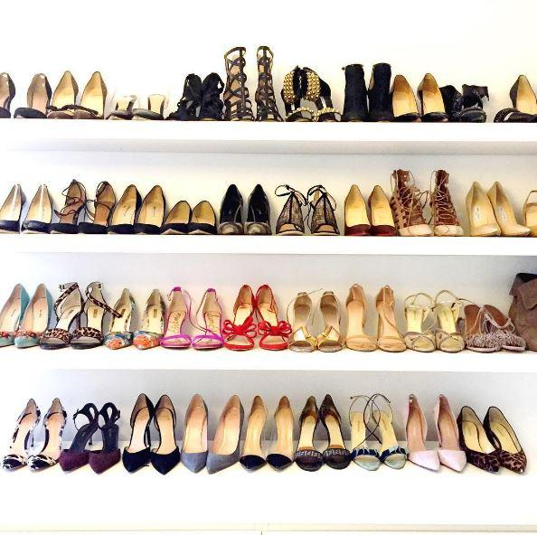 Chaos scheint es bei Meghan Markle nicht zu geben. Auch in ihrem Schuhschrank herrscht Ordnung.
