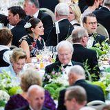 10. Mai 2017  Im Vordergrund Königin Sonja, König Carl Gustaf und Luxemburgs Großherzogin, dahinter Prinzessin Victoria und Prinz Daniel.
