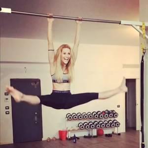 Hartes Training muss nicht immer ernst sein: Michelle Hunziker bringt das Fitnessstudio zum Lachen.