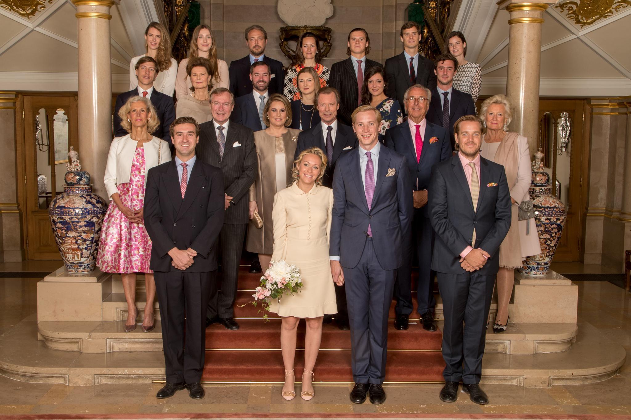 Das offizielle Hochzeitsfoto von Prinzessin Marie-Gabrielle und Antonius Willms.