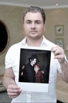 Michael Jacobshagen mit Bild von Michael Jackson