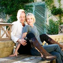 Sting und Ehefrau Trudie Styler auf ihrem Weingut in der Toskana