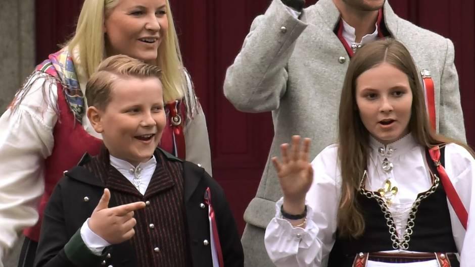 Prinzessin Mette-Marit, Prinz Sverre Magnus, Prinz Haakon, Prinzessin Ingrid Alexandra