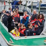 17. Mai 2017  Ab geht es mit dem Boot und Richtung Segelschulschiff.
