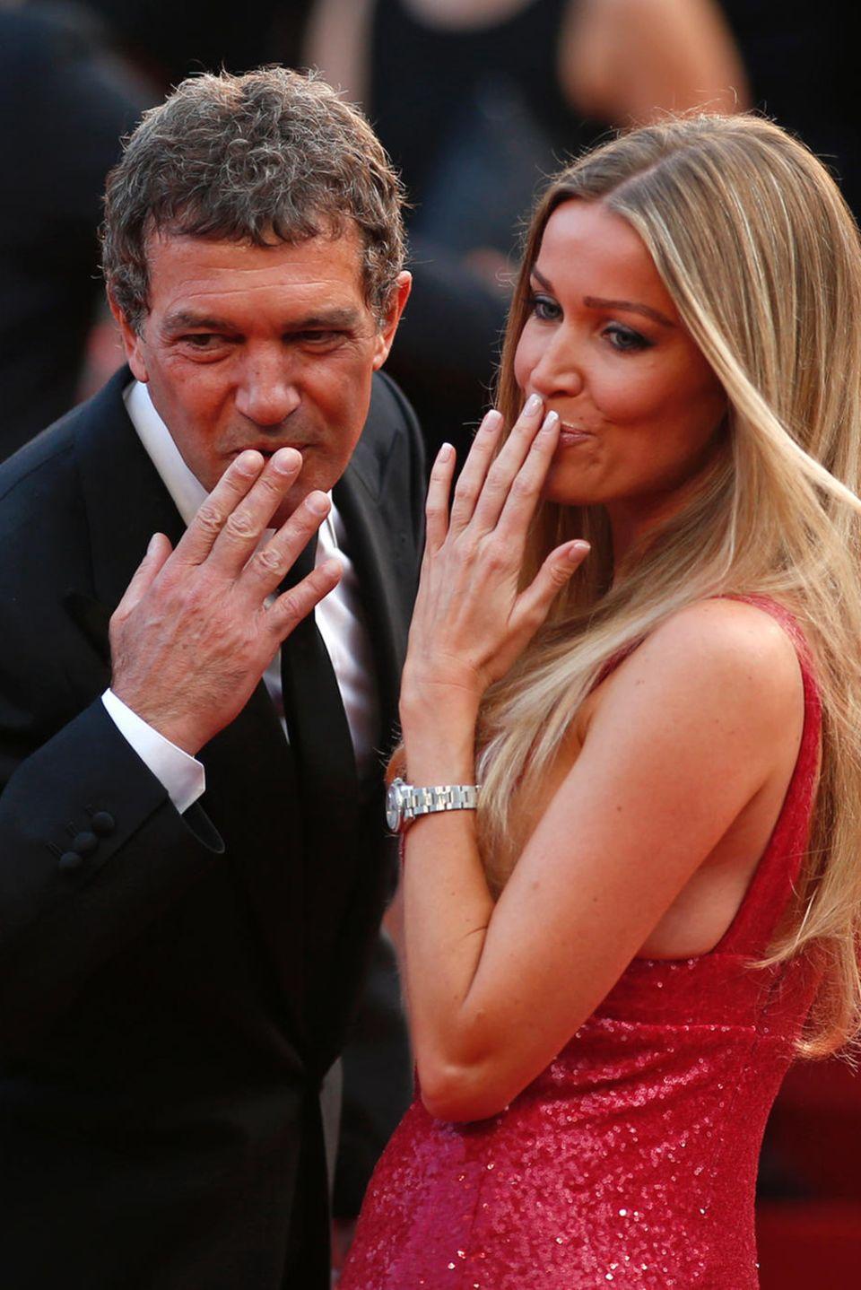 Antonio Banderas und Freundin Nicole in Cannes