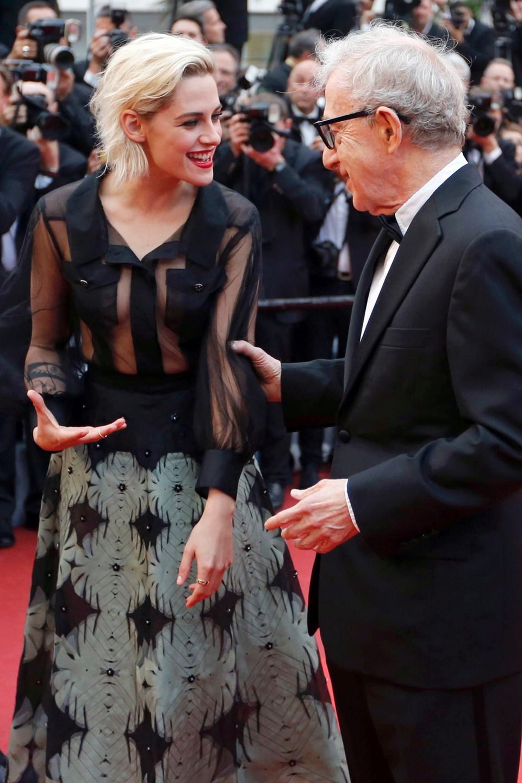 Kristen Stewart und Woody Allen in Cannes