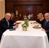 22. Mai 2017  Donald Trump und Melania beim Dinner Mit Benjamin Netanjahu und seiner Frau Sara.