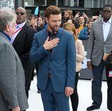 Kitschiges Blumenhemd? Funktioniert bei Justin Timberlake mit perfekt sitzendem Anzug ganz hervorragend.