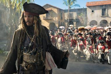 """Johnny Depp als Jack Sparrow in """"Pirates of the Carrbbean: Salazars Rache"""""""