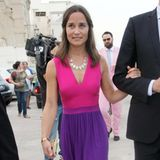 Colour-Blocking à la Middleton: Pippa setzt für ein Sommerevent auf ein knalliges Maxikleid in Pink und Lila.