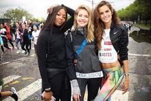Drei Supermodels laufen für benachteiligte Kinder: Naomi Campbell, Natalia Vodianova und Izabel Goulart.
