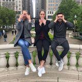 Zusammen mit Freunden erkundet Ana ihre neue Heimatstadt Chicago und dabei entsteht dieses coole Bild.