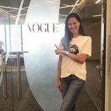 Plant Ana Ivanovic eine Zukunft in der Modebranche? Hier zeigt sie sich zu Besuch bei der amerikanischen Vogue.