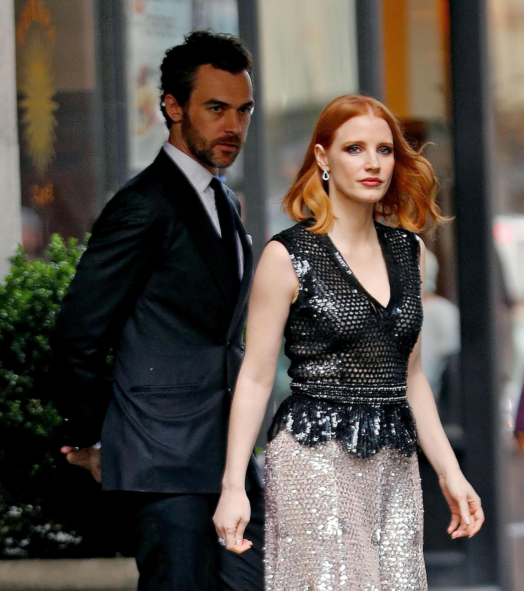 Jessica Chastain und ihr Verlobter Gian Luca Passi 2016 in New York