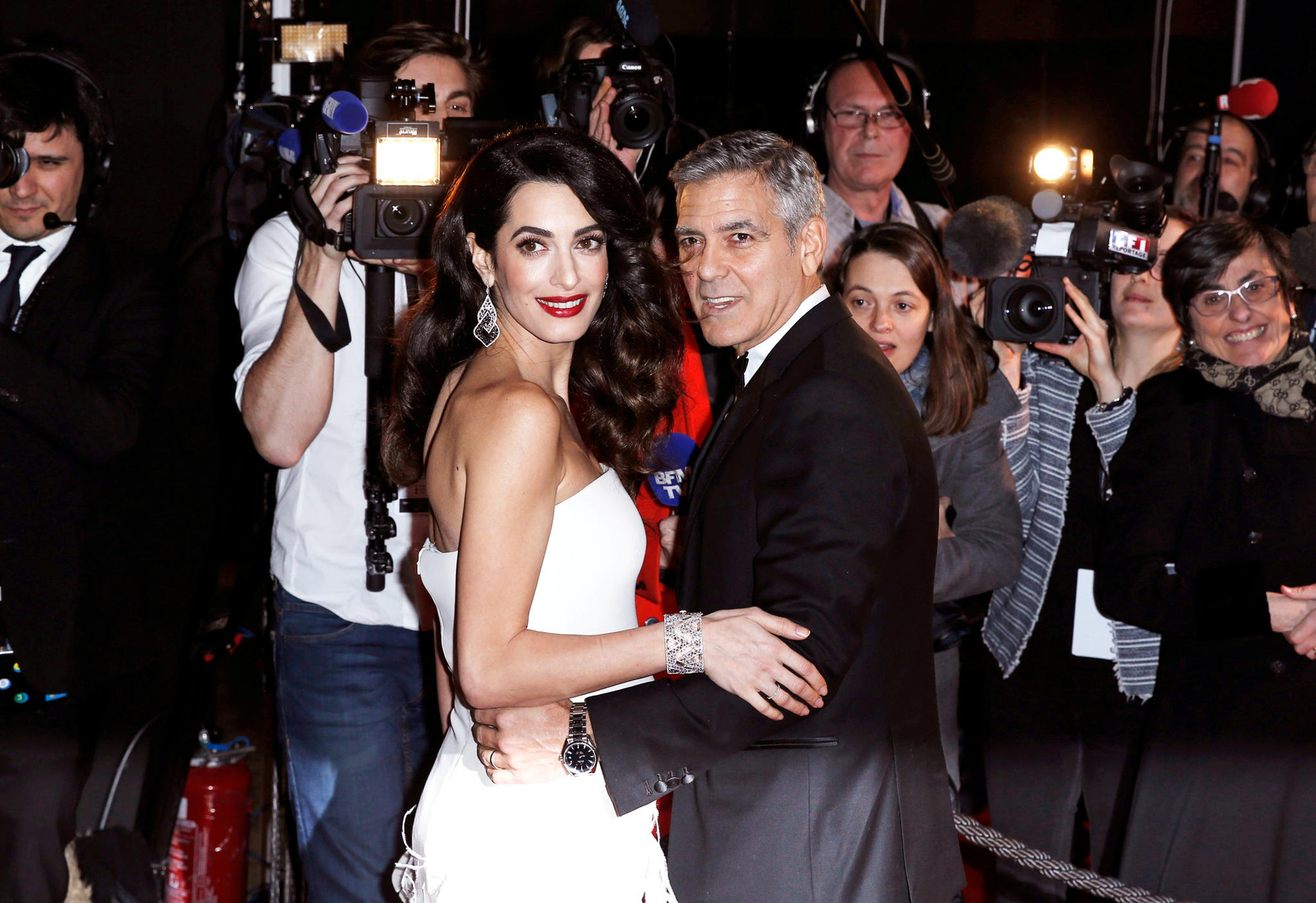 George Clooneys Zwillinge haben Baby-Bodyguards