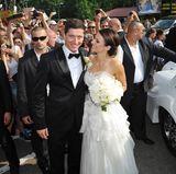 2013: Robert Lewandowski und Anna Stachurska  Der Bayernstar heiratete seine schöne Anna in Sarock, Polen.