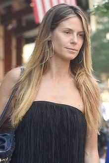 Auch Heidi Klum ist nur ein Mensch: Mit müdem Gesichtsausdruck und ohne Make-Up verlässt die Modelmama ihr Hotel in New York.