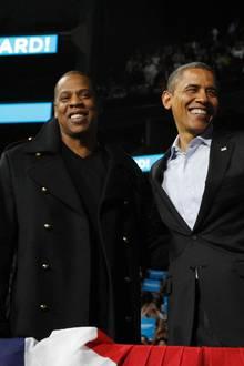 Jay Z unterstützte seinen Kumpel Barack Obama beim Wahlkampf.