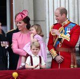 Herzogin Catherine und Prinz William haben ihre Kinder George und Charlotte dabei.