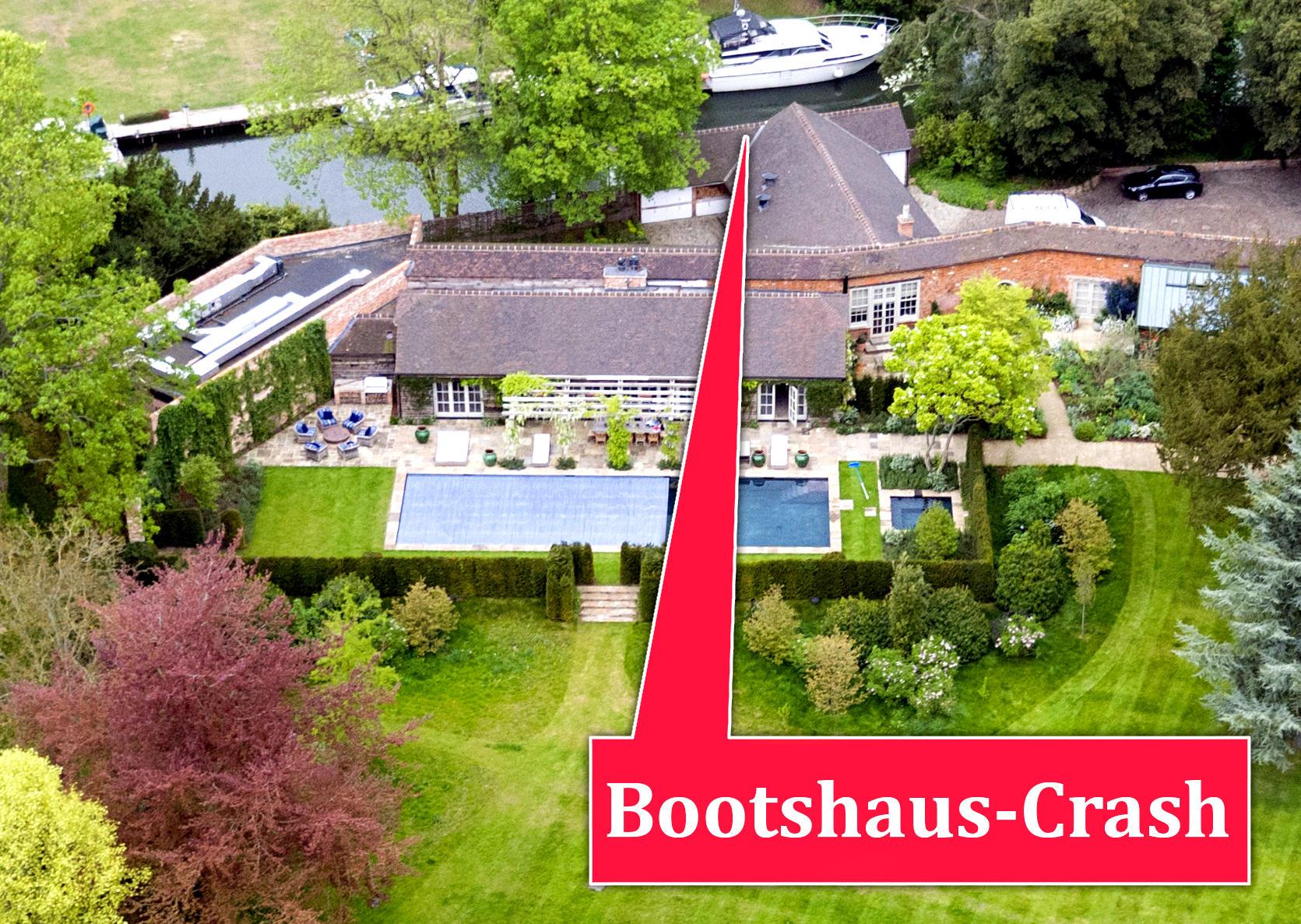 Bootshaus der Clooneys auf ihrem Anwesen in der britischen Grafschaft Berkshire.