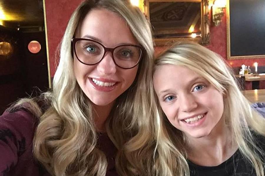 Cathy Lugner +Tochter Leonie Schmitz