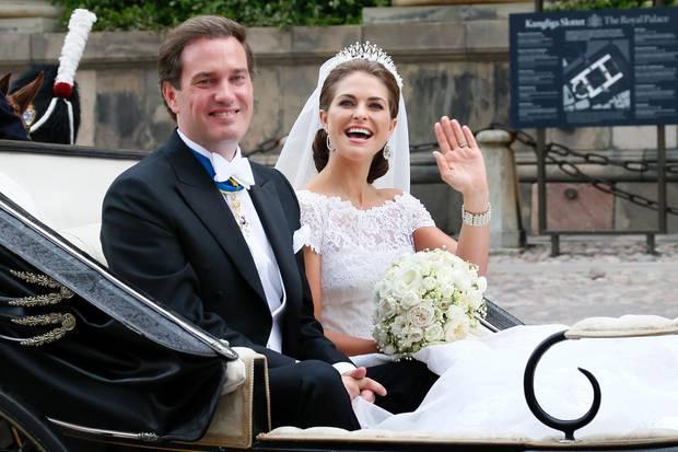 Bei seiner Hochzeit mit Schwedens Prinzessin Madeleine am 8. Juni 2013 macht Chris O'Neill noch einen deutlich fitteren Eindruck.