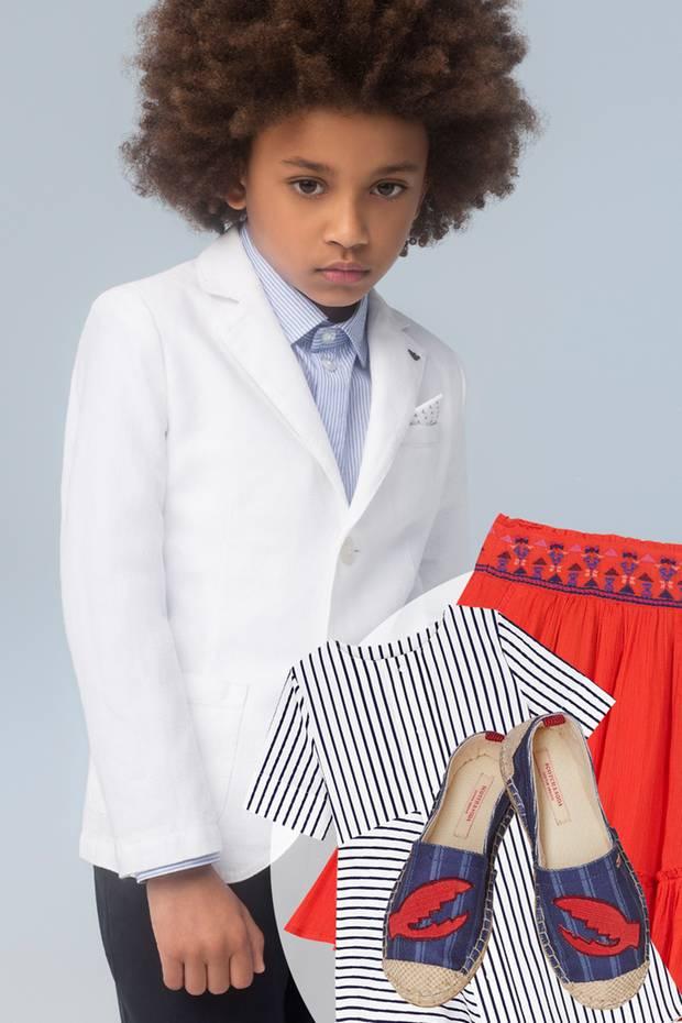 Junge, Junge, wie erwachsen Kids aussehen können ... Bei dem weißen Blazer von Armani Junior – schick, bequem, komfortabel – wird Papa mit Sicherheit neidisch.