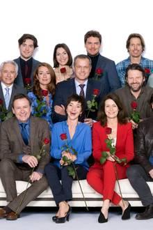 """Der Cast der ARD-Telenovela """"Rote Rosen"""" für das Jahr 2017"""