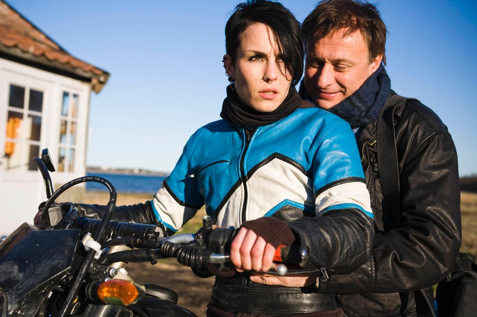 """Noomi Rapace und Mikael Nyqist in """"Verblendung""""."""