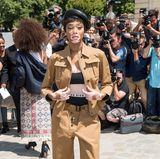 Topmodel Winnie Harlow geht ebenfalls mit auf die Dior-Safari.