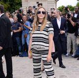Schick in Streifen: Elizabeth Olsen
