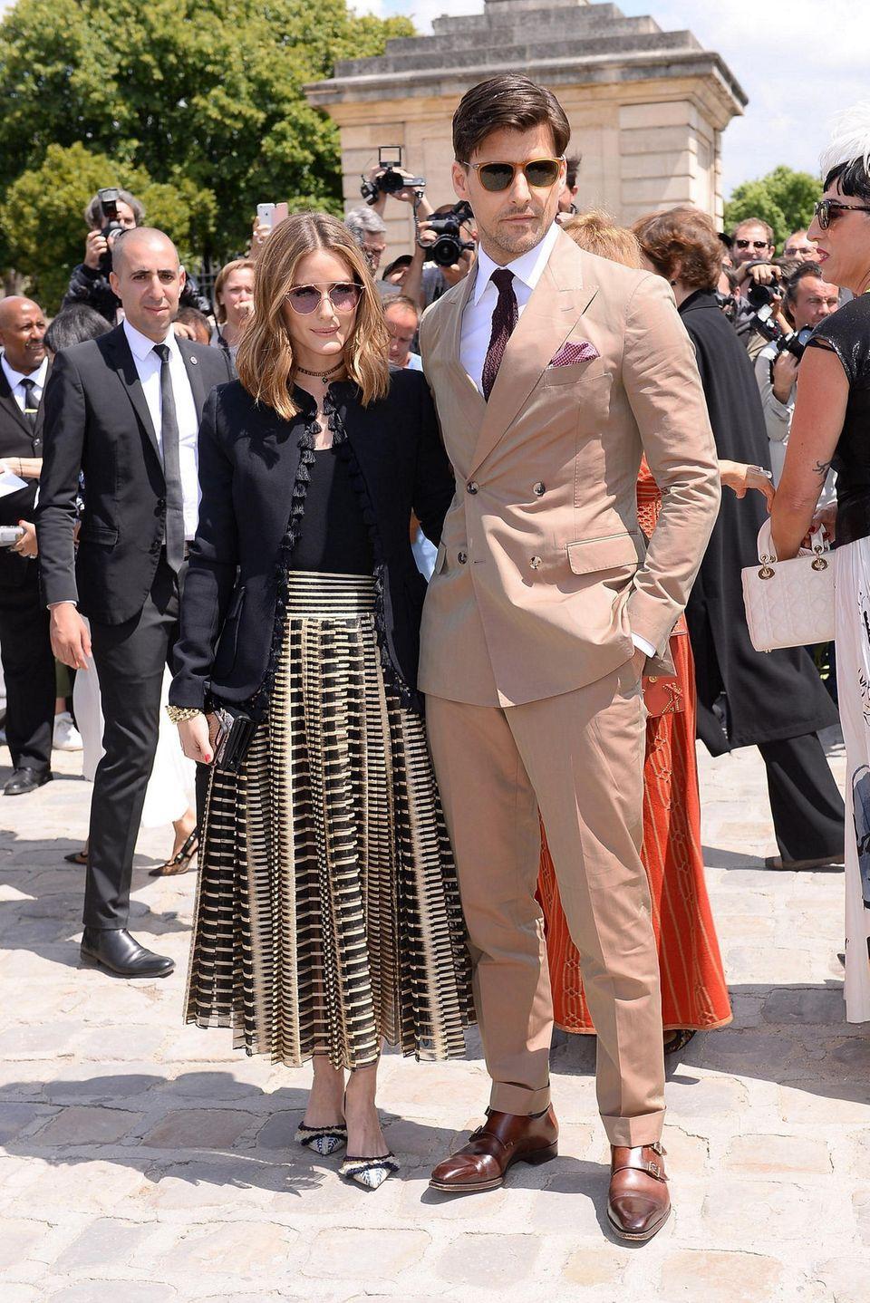 Olivia Palermo und Johannes Huebl, das Style-Paar schlechthin, dürfen natürlich nicht fehlen.