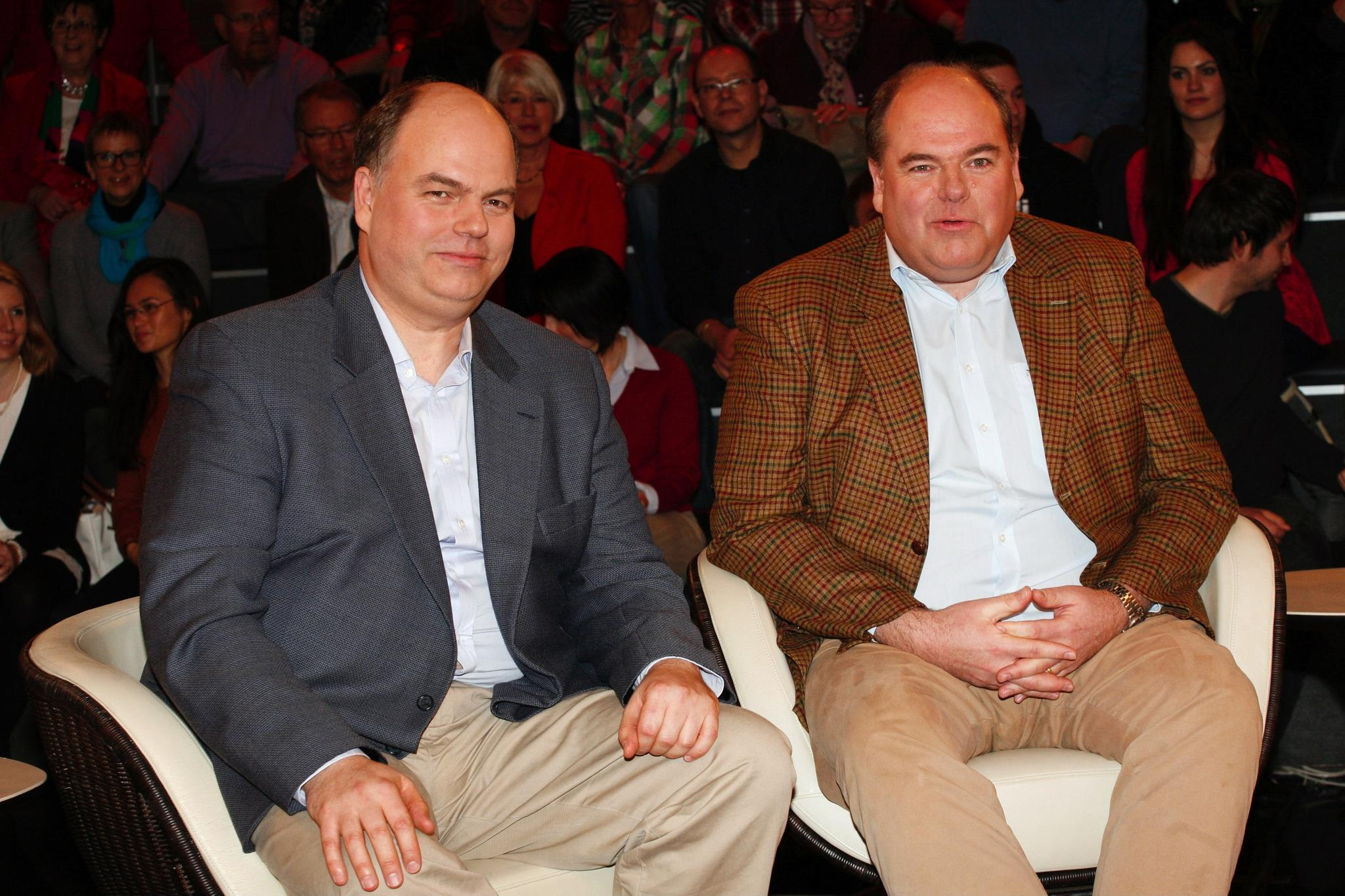 Peter Kohl (l.) und Walter Kohl, die Söhne des verstorbenen Alt-Bundeskanzlers Helmut Kohl