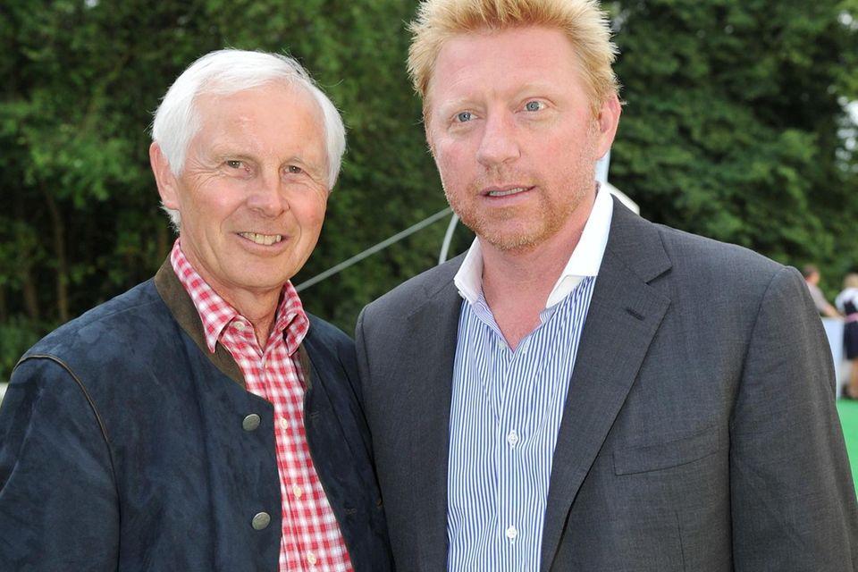 Dr. Hans-Dieter Cleven und Boris Becker im Jahr 2012