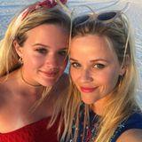 """Tochter Ava und ihre Mutter Reese Witherspoon wünschen ebenfalls einen """"Happy 4th""""."""