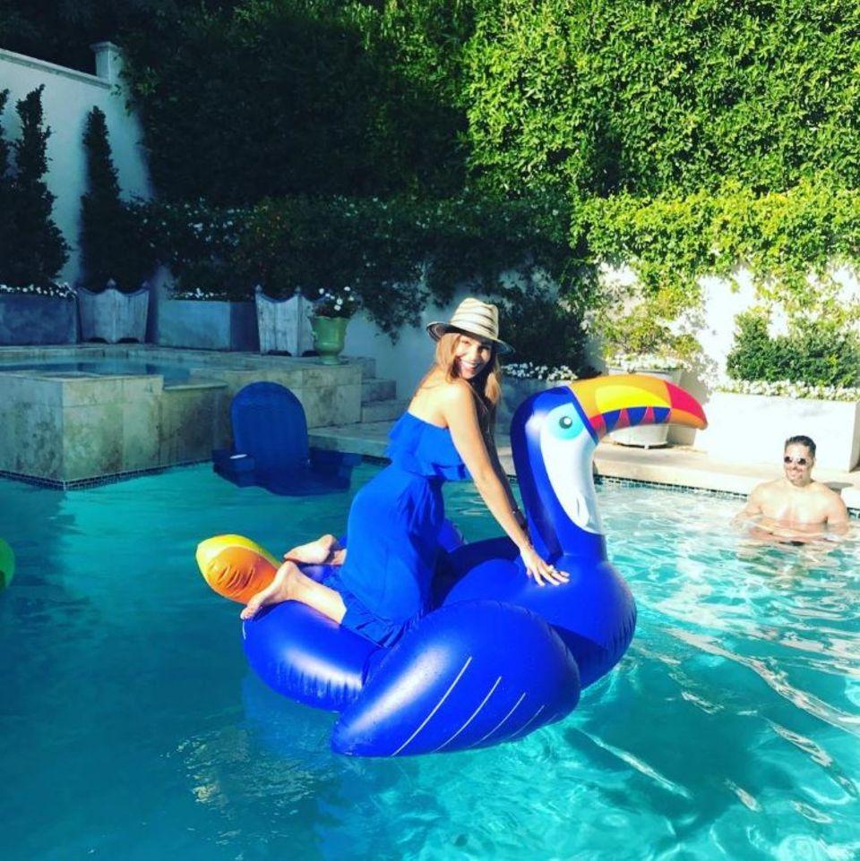 Zum Unabhängigkeitstag gab es bei Sofia Vergara und Joe Manganiello eine spaßige Poolparty.