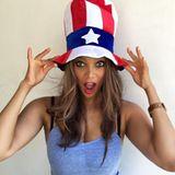 Supermodel Tyra Banks macht ihren Fans die Tante Sam...