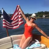 Brooke Shields hofft, dass alle einen großartigen 4. Juli hatten.