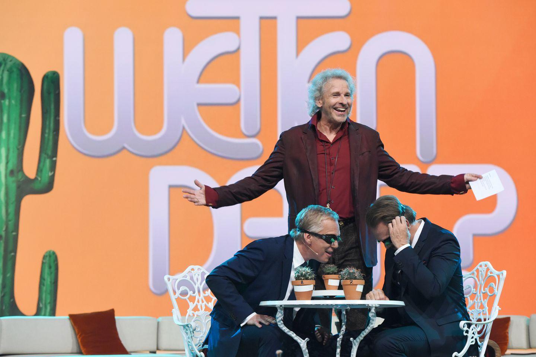 Thomas Gottschalk, Steven Gätjen und Johannes B. Kerner